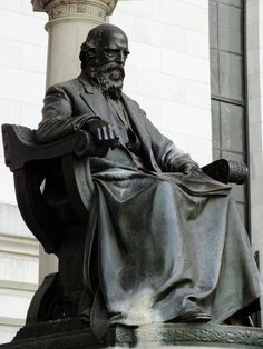 William Cullen Bryant monument at Bryant Park in New York City.