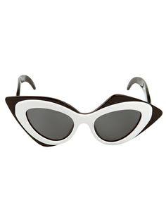 Shop LINDA FARROW GALLERY Mask Sunglasses from Farfetch