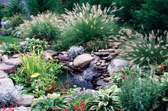 Designing with Ornamental Grasses Wisconsin – Gardening Source by Ornamental Grasses For Shade, Ornamental Grass Landscape, Garden Furniture Design, Fairy Garden Furniture, Backyard Garden Design, Small Garden Design, Backyard Retreat, Shade Landscaping, Landscaping Design