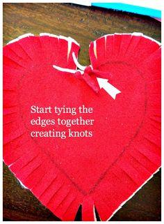 DIY Felt Heart Craft Idea: No Sewing Required