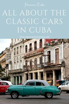 It's the iconic picture of Havana, Cuba. Classic cars cruising past colorful, crumbling buildings. Have you ever wanted to understand more about these classic American cars turned classic Cuban cars? They aren't there for the tourists! #cuba #havanacuba #classiccars