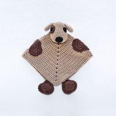 Ravelry: Puppy Dog Security Blanket pattern by Carolina Guzman.