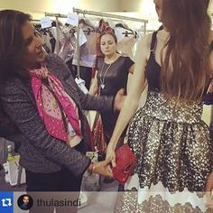 Last minute touch ups @CPM Finishing touches via @vanashree_official's stunning red Croc clutch @cpmmoscow #CPM #ThulaSindi #Moscow #ProudlySA #VanaShree #SouthAfricanLuxury
