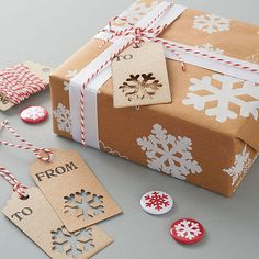 Snowflakes Christmas Gift Wrap