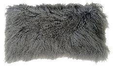 Le-Coterie Tibetan Lumbar Pillow, Gray, Snuggly soft and rich with naturally waved and curled texture, this Tibetan lamb pillow is an inviting, chic accent. Fur Pillow, Fur Throw Pillows, Wool Pillows, Velvet Pillows, Cotton Pillow, Lumbar Pillow, Accent Pillows, Natural Pillows, Pillow Texture