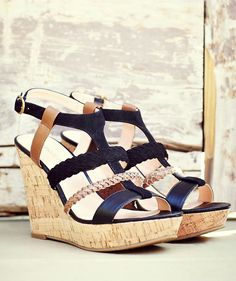 Braided wedge sandals
