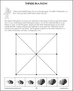Three In A Row - Free Critical Thinking Worksheet for Kids
