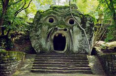 Bomarzo (Viterbo), Park of the Monsters, Ogre, Lazio, Italy. Hidden Places, Oh The Places You'll Go, Places To Travel, Places To Visit, Strange Places, Secret Places, Travel Destinations, Mysterious Places, Travel Things