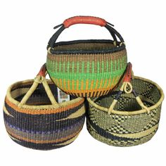 Our large African market baskets are well-suited for grocery shopping. African Market, Market Baskets, Artisanal, Storage Baskets, Marketing, Collection, Shelving, Objects, Gift Ideas