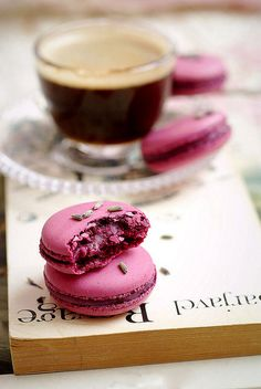 Macarons + coffee = the perfect combination!
