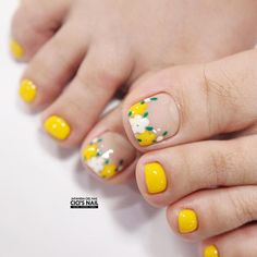 Summer Toes 40 Best Summer Toe Nail Art for 2019 Cute Toe Nails, Toe Nail Art, Pretty Nails, My Nails, Pedicure Designs, Toe Nail Designs, Feet Nail Design, Summer Toe Nails, Feet Nails