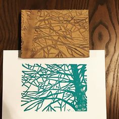 Outline is done. Need to clean up the lines and add detail into the tree. #lino #linocut #linoleum #blockprint #art #artist #printmaking #print #tree #nature