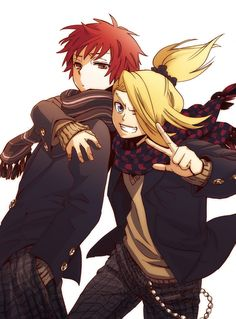 Anime/manga: Naruto (Shippuden) Characters: Deidara and Sasori
