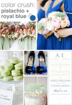 Want a fresh color palette for your wedding? Try pistachio and royal blue! @dawninvites