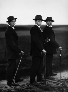 Photo: August Sander. 'Three Young Farmers in Sunday Dress', 1913.