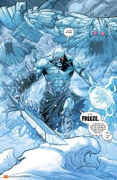 Freeze on Dark Knights Metal Batman Metal, Batman Art, Batman Comics, Batman Robin, Comic Character, Character Design, Dark Knights Metal, Ice Powers, Univers Dc