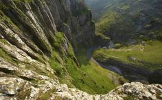 A view from the top of the deliciously named Cheddar Gorge in Somerset's Mendip Hills. No hobbits here! Places Around The World, The Places Youll Go, Places To See, Around The Worlds, Uk Landscapes, Visit Britain, Britain Uk, English Countryside, South Of France