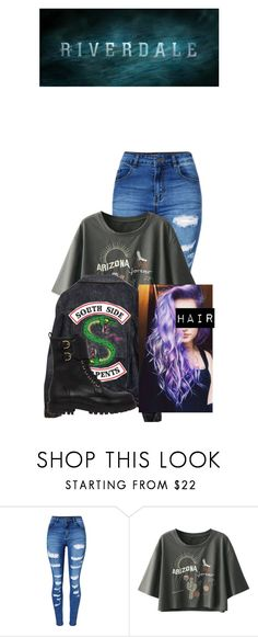 """""""Rae Jones; South Side Serpent"""" by mrsmendes2 on Polyvore featuring WithChic, Salvatore Ferragamo and riverdale"""