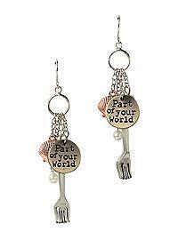 HOTTOPIC.COM - Disney The Little Mermaid Dinglehopper Earrings