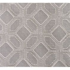 """This is a gray and ivory geometric diamond embroidered drapery fabric by Waverly Fabrics, suitable for any decor in the home or office. Perfect for pillows, drapes and beddingv004AFEF""""Permission has been granted by Waverly Fabrics to display copyrighted designs. Product Designs (C) Waverly. All rights reserved."""""""