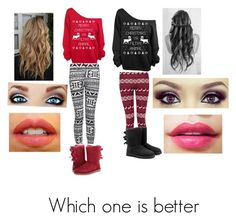 """Christmas which one is better"" by i-love-niall-horan-4457 ❤ liked on Polyvore featuring interior, interiors, interior design, home, home decor, interior decorating, UGG Australia, NARS Cosmetics and Forever"