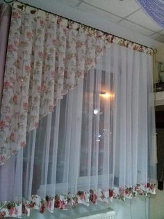 Curtains very elegant and cenlace wing but super pretty- Cortinas muy elegante y cencilla ala vez pero super bonita Curtains very elegant and cenlace wing but super pretty - Shabby Chic Curtains, Home Curtains, Curtains Living, Kitchen Curtains, Luxury Curtains, Valance Curtains, Curtain Styles, Curtain Designs, Curtain Ideas