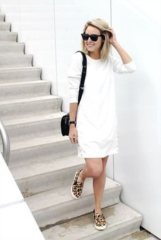 How to Style Your Sneakers in Summer - LWD styled with slip on leopard print sneakers