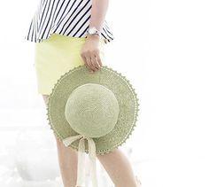 pdf download crochet pattern, raffia straw summer floppy sun hat pattern