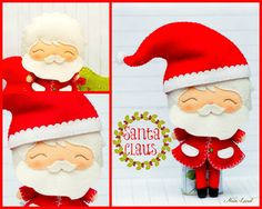 PDF Pattern. Santa Claus Rudolph the reindeer and by Noialand