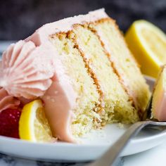 Lemon Raspberry Layer Cake