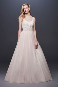 The new David's Bridal wedding dresses have arrived! Take a look at what the latest David's Bridal bridal collection has in store for newly engaged brides. How To Dress For A Wedding, Classic Wedding Dress, Perfect Wedding Dress, Western Wedding Dresses, Tulle Wedding, Bridal Wedding Dresses, Mermaid Wedding, Wedding Attire, Garden Wedding
