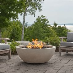 Looking for the new Eldora 42 inch Round Natural Gas Fire Pit Bowl? Shop Ballard online today to find the newest trends in outdoor living & entertaining style! Propane Fire Bowl, Fire Pit Bowl, Fire Bowls, Natural Gas Fire Pit, Gas Outdoor Fire Pit, Outdoor Fire Table, Gas Fire Table, Propane Tank Cover, Concrete Fire Pits