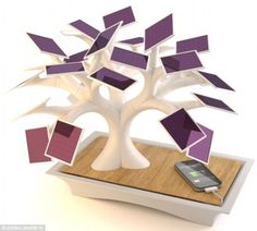 Ornate: This mock Bonsai tree is in fact a solar-powered charger for everyday electrical devices called the Electree+