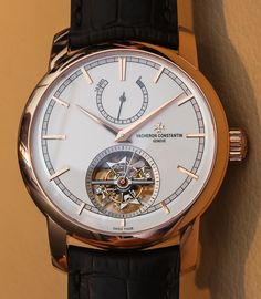 """Vacheron Constantin Patrimony Traditionnelle 14 Day Tourbillon Watch Hands-On: Open & Closed - by Ariel Adams - See more and deepen your appreciation of both on aBlogtoWatch.com """"I thought it would be interesting to display both versions of the Vacheron Constantin Patrimony Traditionnelle 14-Day Tourbillon side by side... While essentially the same watch, the Openworked version has no traditional dial and a highly skeletonized movement..."""""""