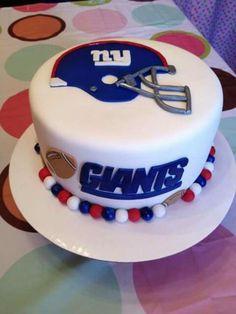New York Giants cake. Yummy.
