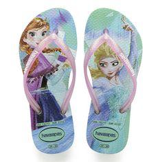a656e2572 Havaianas Kids Slim Frozen Sandal Green Pink