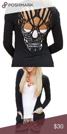 38d51ba85d Brand new top Super fun thin top with skull cutout. Perfect for layering  over light