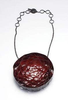 Daniel Kruger. Necklace: Untitled, 2011. Silver, pigment.