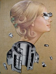 The Mechanics of Beauty.  Limited edition collage print by Vivienne Strauss.. $40,00, via Etsy.