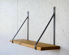 """Pair of Unpainted """"Belt"""" Brackets - Choose your size - Steel Brackets - Shelf Brackets - Unpainted Brackets - Flat Bar Brackets"""