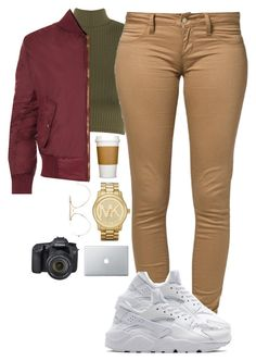 """Untitled #15"" by simplyuniquee ❤ liked on Polyvore featuring WearAll, CÉLINE, Monkee Genes, NIKE, Michael Kors and Eos"