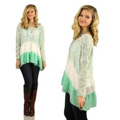 Third In Line Tunic in Mint