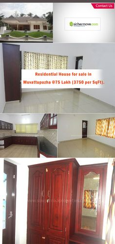 """""""Residential House for sale in Muvattupuzha @75 Lakh (3750 per SqFt).     for more info:touch with_http://goo.gl/YMpCya"""