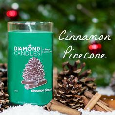 Cinnamon Pinecone Ring Candle // Diamond Candles soy candles are great for Christmas Gift Ideas for Black Friday and Cyber Monday Shopping. Check out our website for a deal this weekend! Christmas Wishes, All Things Christmas, Christmas Holidays, Christmas Gifts, Christmas Ornaments, Christmas Ideas, Love Is In The Air, As You Like, Diamond Candles