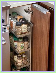 narrow spice rack for cupboard door-#narrow #spice #rack #for #cupboard #door Please Click Link To Find More Reference,,, ENJOY!! Clean Kitchen Cabinets, New Kitchen, Kitchen Decor, Kitchen Design, Kitchen Ideas, Glossy Kitchen, Kitchen Trends, Kitchen Colors, Cupboards