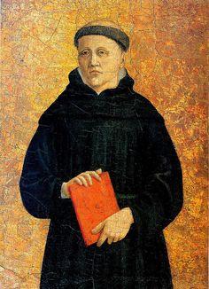 Piero della Francesca - Polittico di Sant'Agostino: monaco agostiniano - tecnica mista su tavola - 1454-1469 - Frick Collection, New York