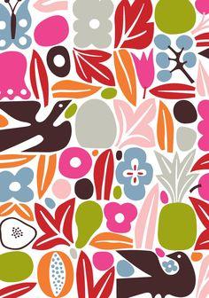 cute pattern... Alexander Girard - Vigo Cards