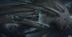 Space Whale, Yohann Schepacz OXAN STUDIO on ArtStation at https://www.artstation.com/artwork/space-whale-8dc80b0f-ef7a-4345-8ddb-fdbcebf12ed1