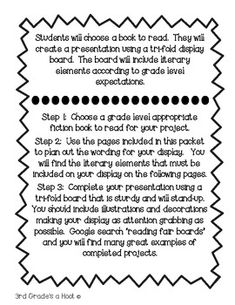 Reading Fair Project Packet by Grade's a Hoot Reading Fair, 5th Grade Reading, Kindergarten Reading, Teaching Reading, Reading Projects, Reading Specialist, Common Core Reading, Fair Projects, Reading Workshop
