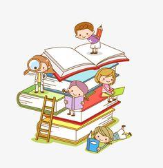 Best books to read! Comic Book Wallpaper, Drawing School, School Murals, School Frame, School Clipart, Petite Section, School Decorations, Kids Reading, Cartoon Kids